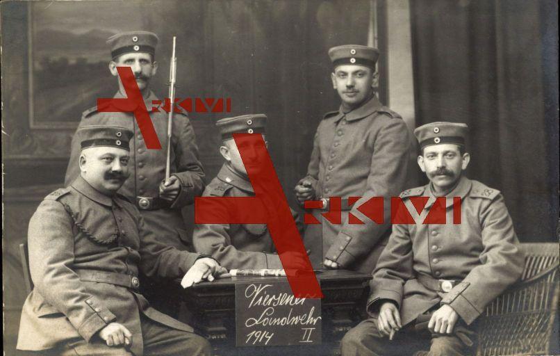 Viersen, Gruppenfoto, Landwehr, Soldaten, 1914