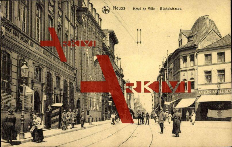 Neuss, Hotel de Ville, Kaiser's Kaffee, Büchelstraße