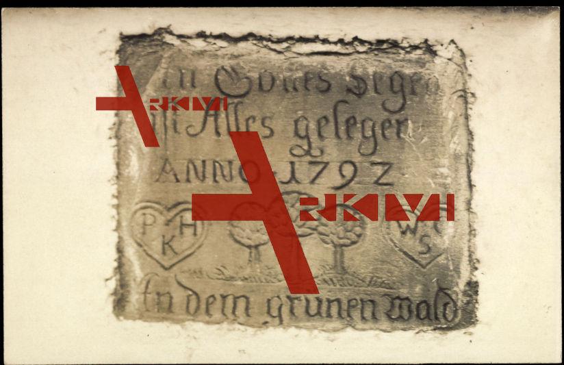 Volmarstein Wetter, Steininschrift von 1792