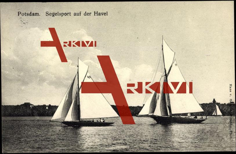 Potsdam, Segelsport auf der Havel, Yachten