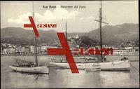 San Remo Liguria, Panorama dal Porto, Yachten,Häuser