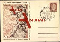 Ganzsachen Afrikakorps, Tag der Briefmarke 1942