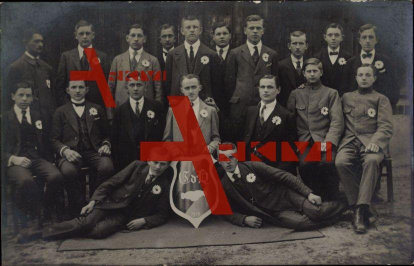 Studentika Gruppenfoto von Studenten, 1918