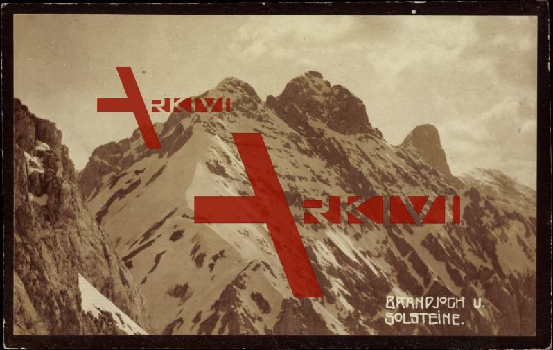 Berge, Brandjoch und Solsteine, Schnee, Winter