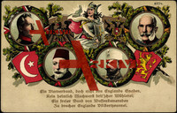 Kaiser Franz Josef, Sultan Ghazi, König v. Bulgarien