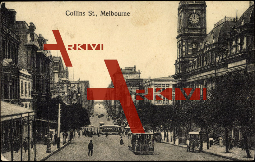 Melbourne Australien, Collins Street, Clock Tower
