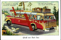 Leporello Bad Ems, Kurhaus, Brunnenhalle, Kirche,Bus