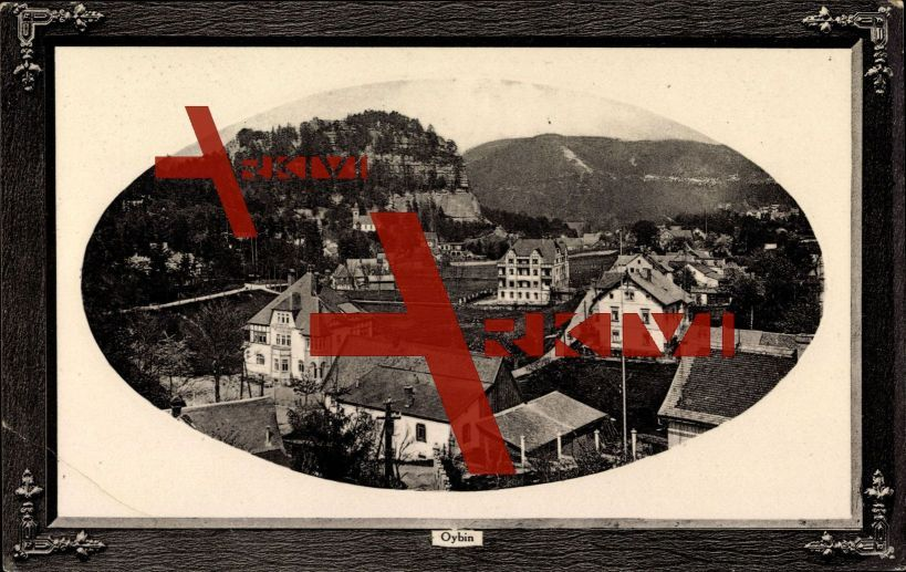 Passepartout Oybin Sachsen, Blick auf den Ort