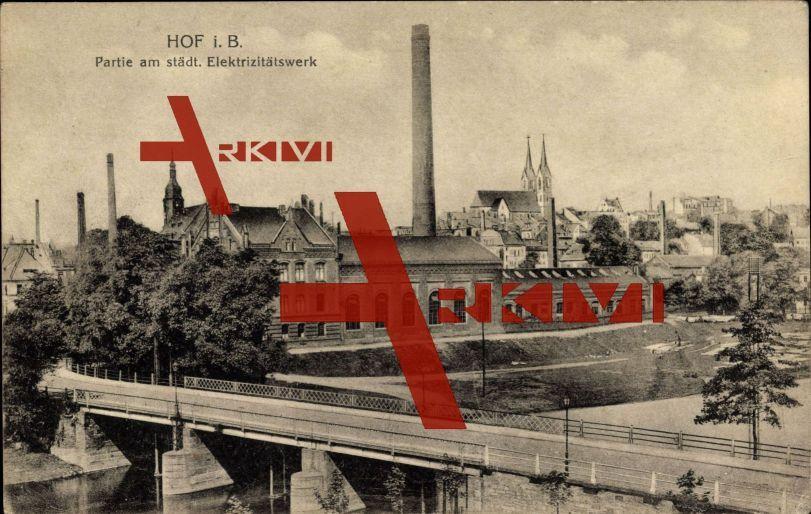 Hof in Bayern, Partie am städt. Elektrizitätswerk