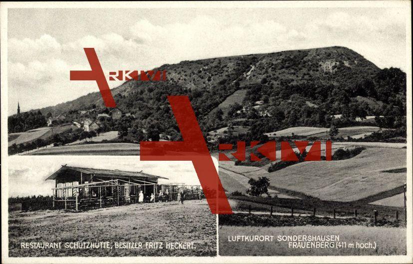 Sondershausen Thür., Frauenberg, Schutzhütte