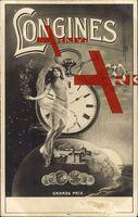 Jugendstil Longines, Reklame, Taschenuhr, Werke