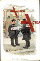 Bersch, F., Berliner Typen, Zeitungsjungen