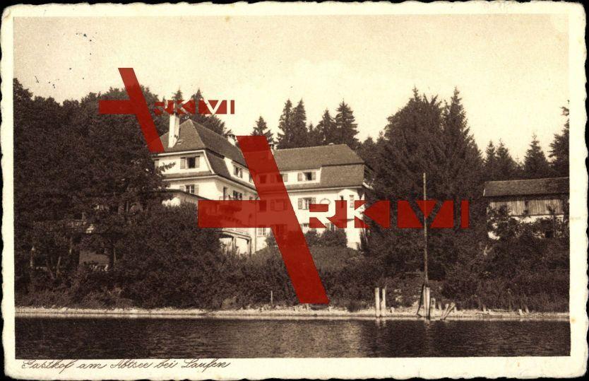 Laufen, Gasthof Am Abtsee von der Wasserseite