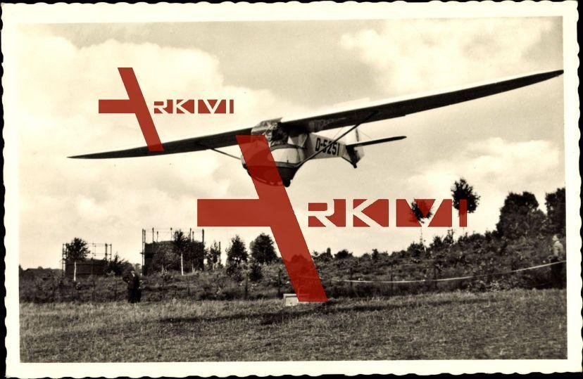 Solingen,Segelflugzeug Klingenstadt,Typ Doppelraab V; ungelaufen, Eckknick rechts oben, sonst guter Zustand; PLZ 426