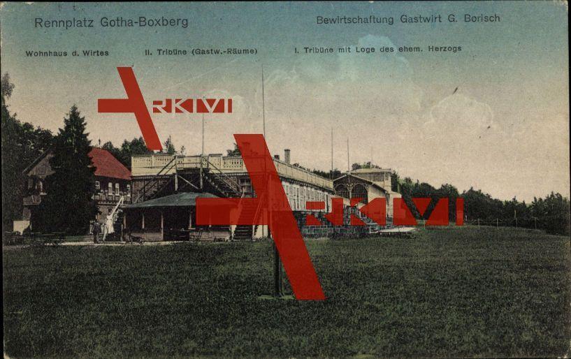 Gotha, Rennplatz Boxberg, Bewirtschaftung G. Borisch; gelaufen 1922, sehr guter Zustand; PLZ 99867