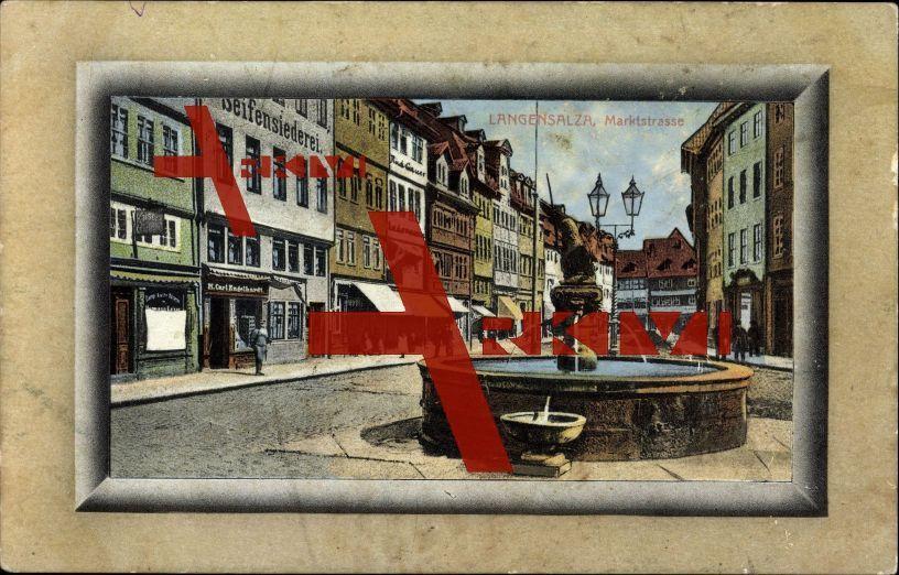 Bad Langensalza, Brunnen, Marktstrße, Seifensiederei; ungelaufen, sehr guter Zustand; PLZ 99947