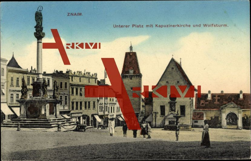 Znaim Südmähren, Unterer Platz, Kapuzinerkirche; ungelaufen, sehr guter Zustand