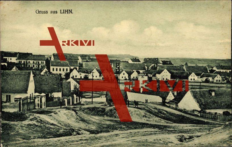 Lihn Region Pilsen Tschechien, Blick zum Ort hin