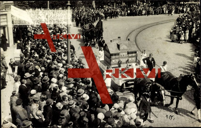 Gotha, 29 Thür. Sänger Bundesfest, Umzugswagen; ungelaufen, datiert 1929, sehr guter Zustand