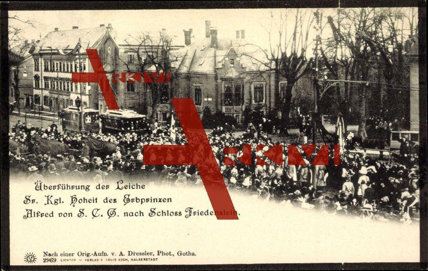 Gotha,Erbprinz Alfred von S.C.G,Bestattung,Zuschauer; ungelaufen, sehr guter Zustand