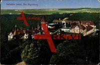 Lostau Möser, Blick auf die Heilstätte, Waldgebiet; gelaufen 1914, Ecken bestoßen, sonst guter Zustand; PLZ 3929