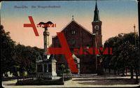 Ulm an der Donau, Am Kriegerdenkmal, Kirche; ungelaufen, Ecken bestoßen, sonst guter Zustand; PLZ 890