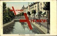 Bad Wörishofen, Partie an der Bachstraße, Promenade; gelaufen 1910, sehr guter Zustand; PLZ 86825