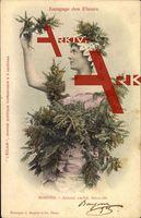 Langage des Fleurs, Mimosa, Amour caché, Sécurité; gelaufen 1903, fleckig, sonst guter Zustand