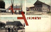 Velké Bystrice Olomoucký kraj, Hostinec, Myslivna; gelaufen 1913, sehr guter Zustand