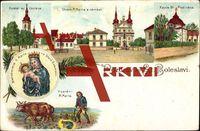 St. Boleslavi Mittelböhmen, Kostel sv Vàclava; gelaufen 1928, Ecken bestoßen, Eckknick rechts oben, sonst guter Zustand