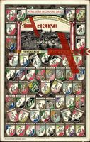 Studentika Gotha, Mens Sana in Corpore Sano, Totale; ungelaufen, datiert 1913, Rückseite beschrieben, Ecken bestoßen, sonst guter Zustand; PLZ 99867