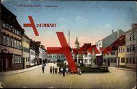 Bad Langensalza, Langestraße, Kindergruppe, Fontäne; gelaufen 1926, sehr guter Zustand; PLZ 99947