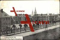 Bad Langensalza, Kasernen d. Reg. Jäger z. Pferde 2; gelaufen als Feldpost 1915, Eckknicke, sonst guter Zustand ; PLZ 99947