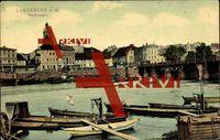 Landsberg Ostbrandenburg, Warthepartie, Brücke; gelaufen, Briefmarke entfernt, Eckknick links oben, fleckig, sonst guter Zustand