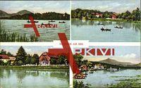 Hammer am See, Ruderboote, Gasthaus, Anlegestelle; gelaufen, sehr guter Zustand