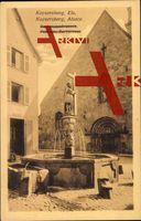 Kaysersberg Elsaß Haut Rhin, Barbarossabrunnen,Puits