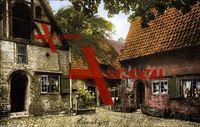 Lüneburg Niedersachsen, Haus Roter Hahn, Hinterhof; ungelaufen, sehr guter Zustand; PLZ 213