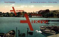 Berlin Weißensee, der weisse See mit Bootsstation
