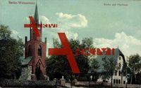 Berlin Weißensee, Blick auf Kirche und Pfarrhaus