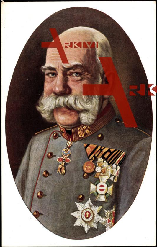 Kaiser Franz Josef I, nach Gemälde von R. Grabendorff