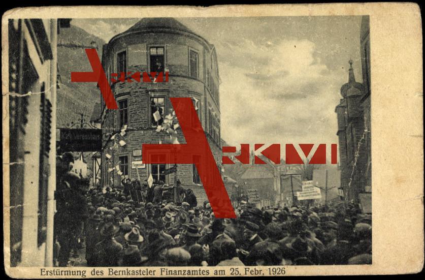 Bernkastel Kues, Erstürmung des Finanzamtes 1926