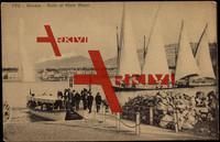 Genf Stadt, Rade et Mont Blanc, Yachten, Steg