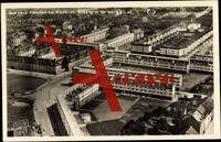 Frankfurt Main Niederrad, Fliegeraufnahme vom Ort