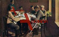Europäischer Krieg 1914 1916, Kaffeeschmaus,Soldaten