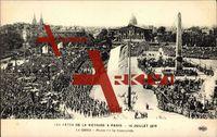 Paris, Fêtes de la Victoire 1919, Place Concorde