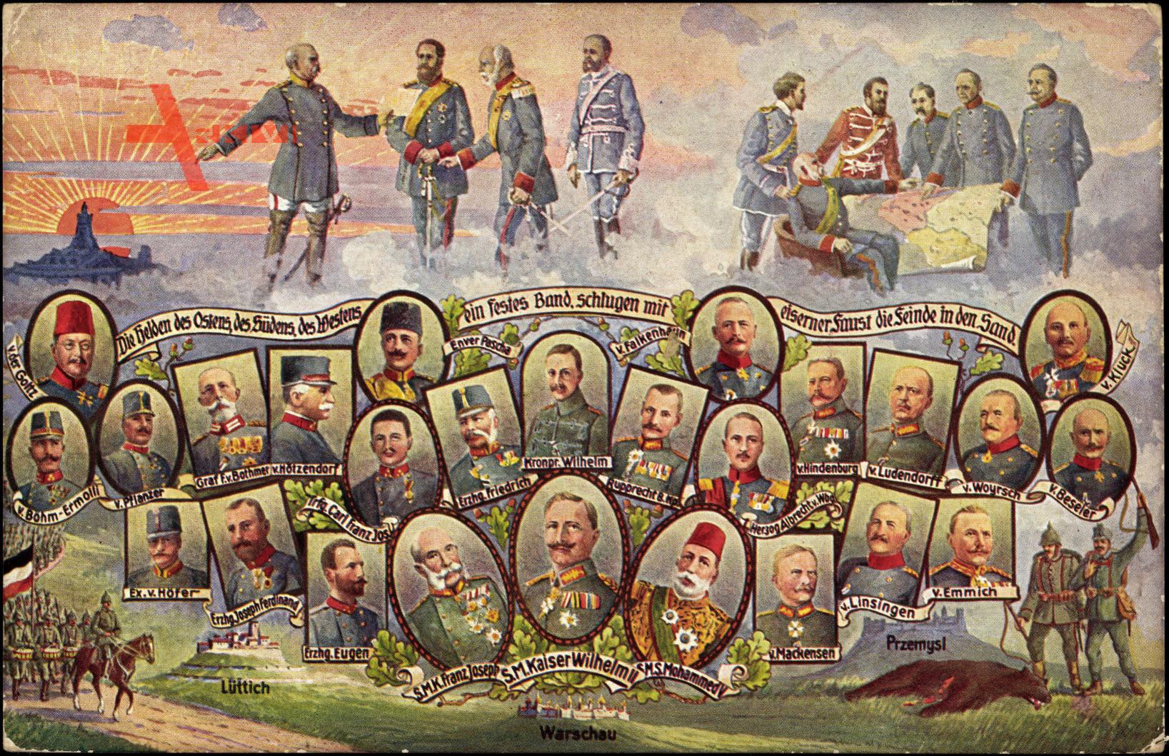 Wilhelm II, Franz Josef, Mohammed, Warschau