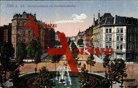 Köln Rhein, Barbarossaplatz mit Hohenstaufenring