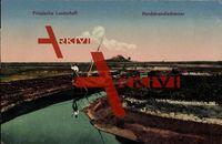Hallig Nordstrandischmoor Friesland, Partie am Kanal