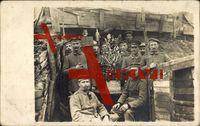 Soldaten im Schützengraben, Soldaten, Tannenbaum, III Res I.R. 19