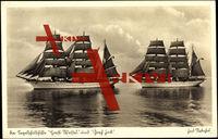 Die Segelschulschiffe Horst Wessel und Gorch Fock